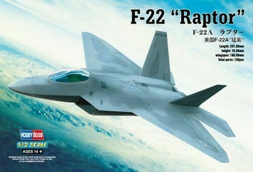 HobbyBoss 1/72 Kit #80210 F-22