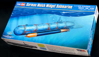 HobbyBoss 1/35 Scale Kit #80170 WW2 German Molch Midget Submarine - Baron von Plastic