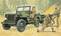 Italeri 1/35 Kit #314 Willys MB Jeep with Trailer - NISB