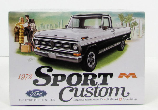 Moebius 1/25 1972 Ford Sport Custom Pickup Kit