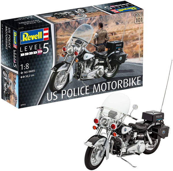 Revell Germany 1/8 Kit #7915 US Police Bike ( HD) - Baron von Plastic