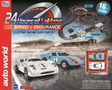 Autoworld HO 1:64 Scale 24 Hours of LeMans Slot Car Racing Set