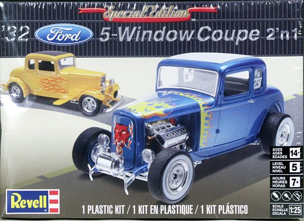 Revell 1/25 Kit #85-4228 '32 Ford 5-Window Coupe