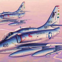 Trumpeter 1/32 Scale Kit #02267 US Navy & Blue Angels A-4F Sky Hawk - Baron von Plastic