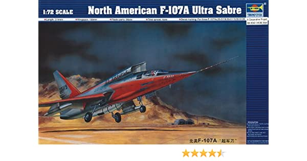 Trumpeter 1/72 Kit #1605 North American F-107A