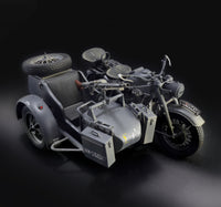 Italeri 1/9 Kit #7406 Scale German Military Motorcycle KS 750 Zundapp w/Sidecar
