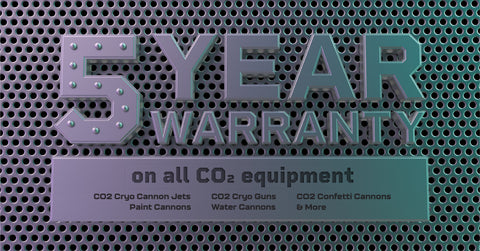5 YEAR WARRANTY ON CO2 SPECIAL EFFECTS