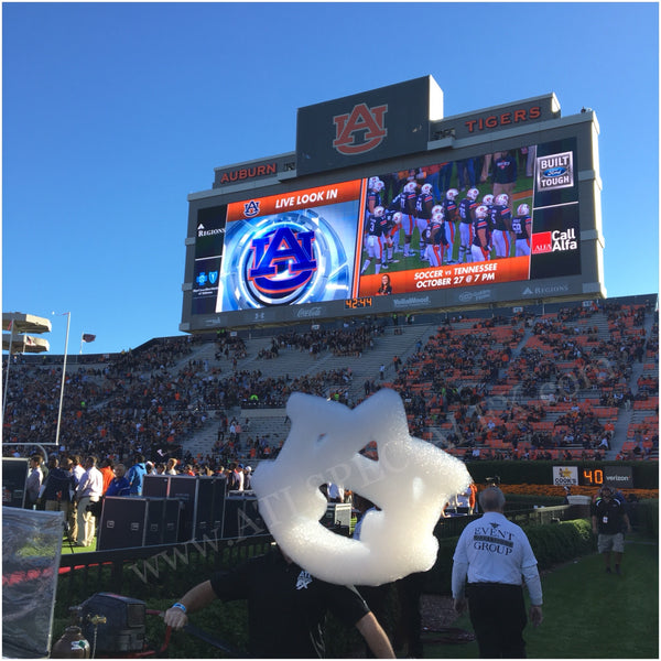Flying Cloud Logo Special Effects for Auburn University College Football Game - Cloudvertise today from Atlanta Special FX®