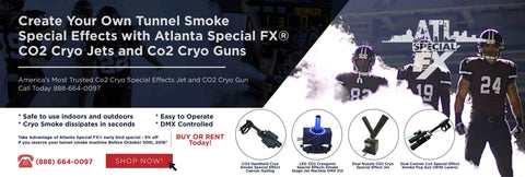 fog smoke co2 tank team tunnel entrance cryo jet cannon