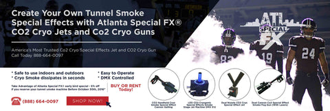 CO2 team tunnel smoke fog machines ATL SPECIAL FX®