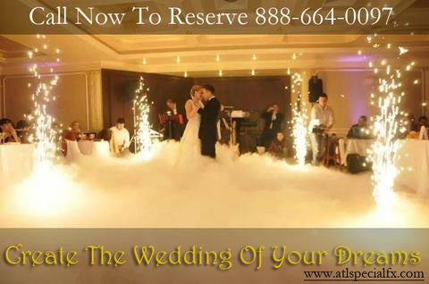Rent aqua fog machine for wedding no dry ice or co2