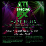 haze fluid label atlanta special fx