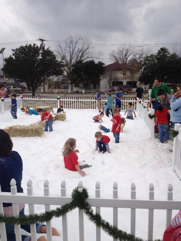 Real Fake Snow City Play Area Christmas