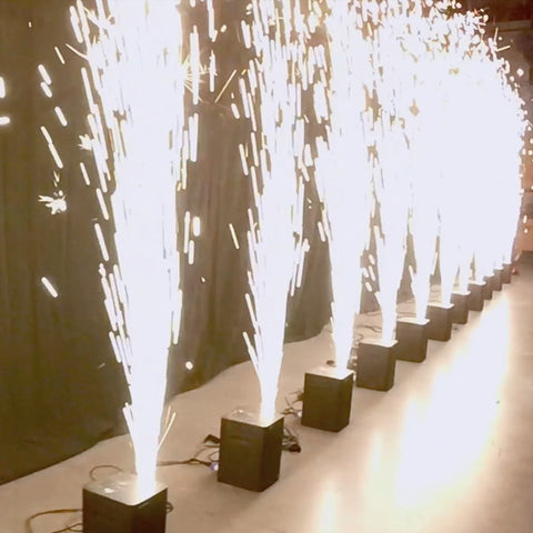 Rent Cold Sparklers Fountains For Weddings and Concert Events