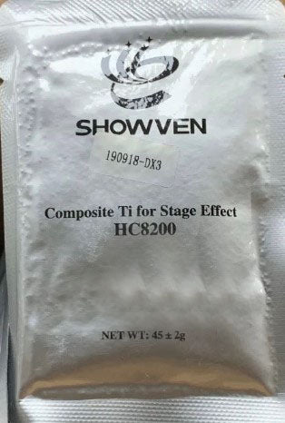 Showven Sparkular Granules Cold Sparkler Machine Powder Ti Composite