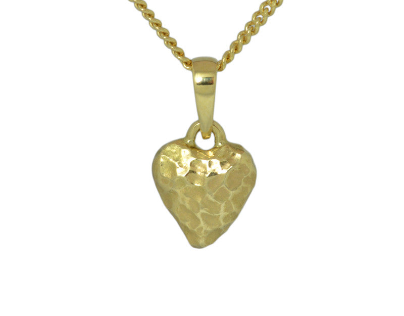Mini Textured Heart Pendant