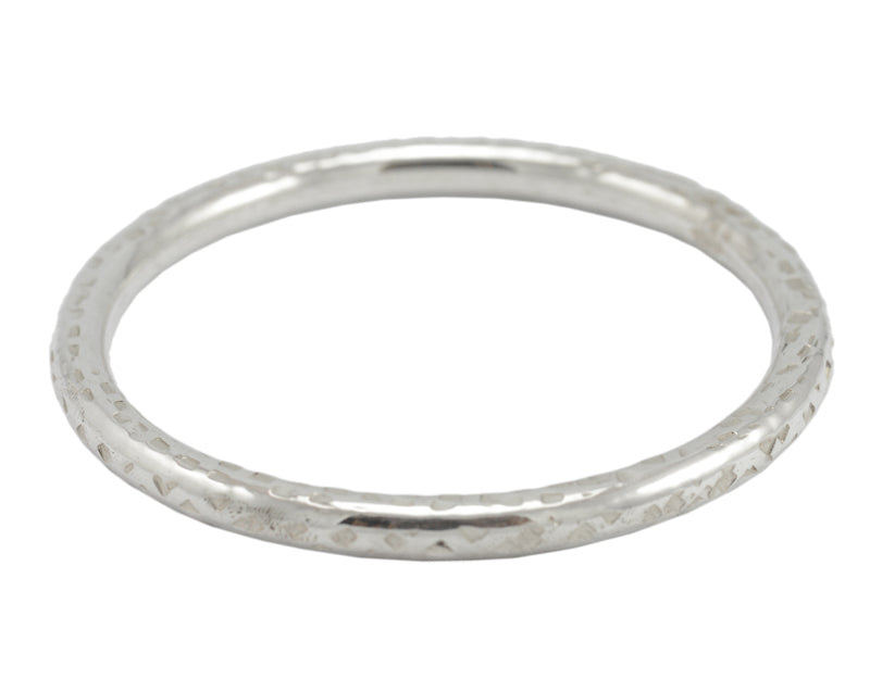6 mm Round Bangle, Hammered