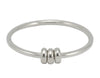 4 mm Round Bangle with 3 Donut Beads