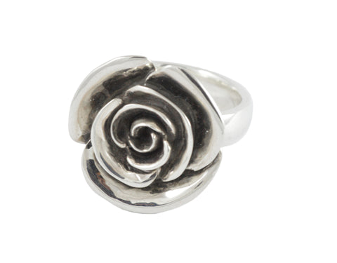 Big Rose Ring (blackened)