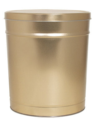 Popcorn Tin (1 Gal) - Gold Tin