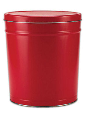 Popcorn Tin (1 Gal) - Red Tin