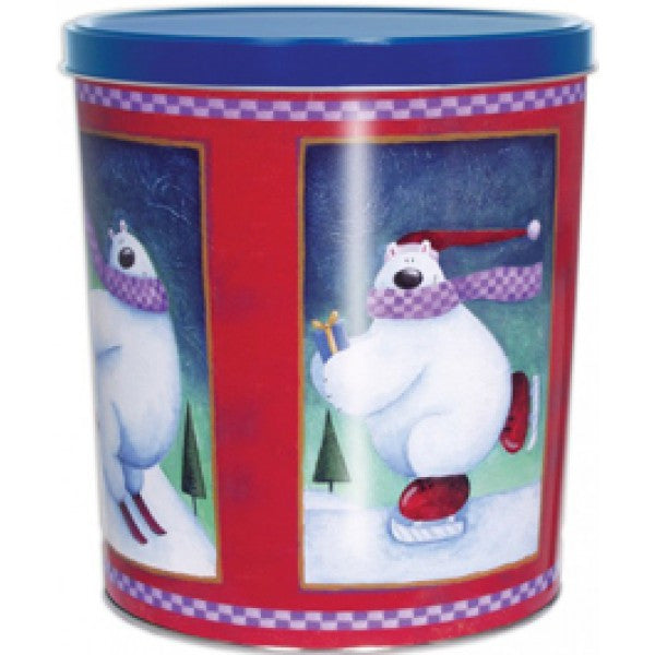 Popcorn Tin (3.0 Gal) - Skating Polar Bear