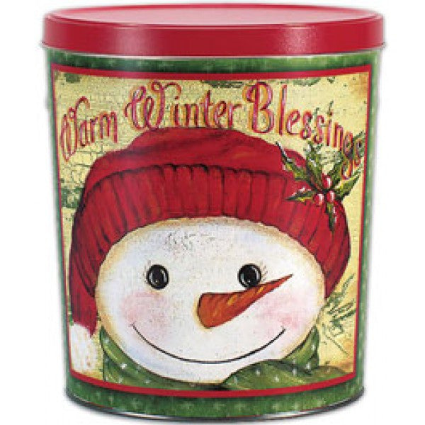 Popcorn Tin (3.0 Gal) - Warm Winter Blessings