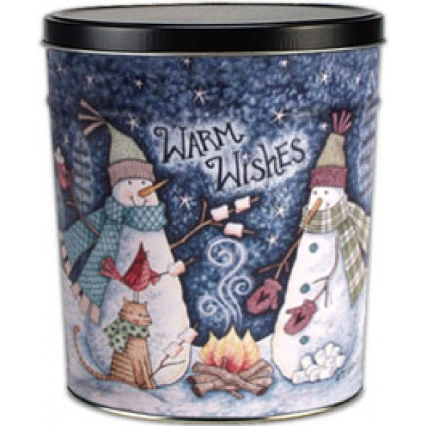 Popcorn Tin (3.0 Gal) - Warm Wishes