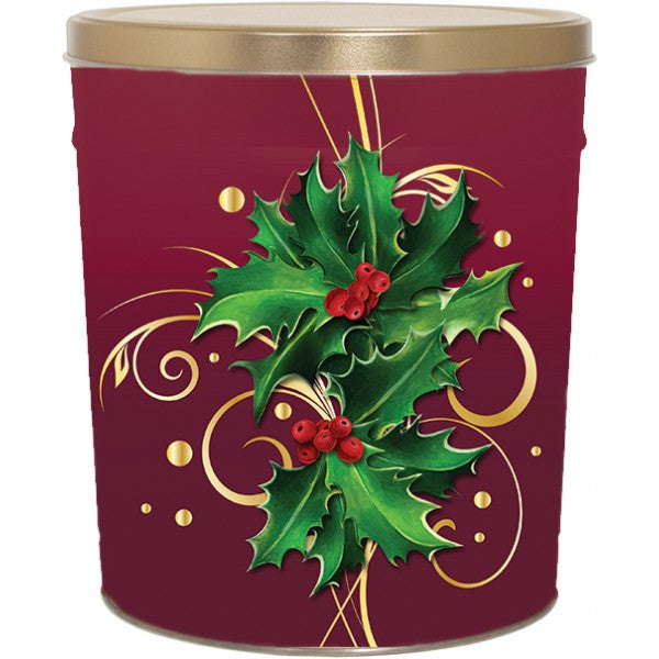 Popcorn Tin (3.0 Gal) - Holly