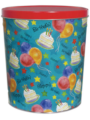 Popcorn Tin (3.5 Gal) - Happy Birthday