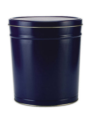Popcorn Tin (3.5 Gal) - Blue Tin