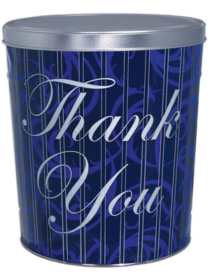 Combo Popcorn Tin (6.5 Gal) - Thank You