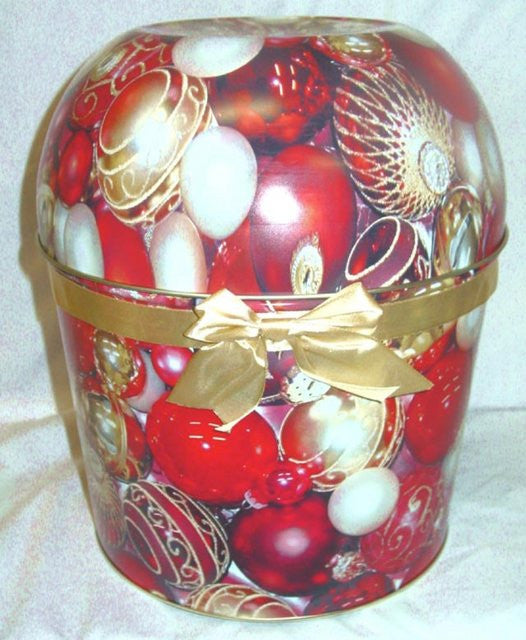 Combo Popcorn Tin (2 Gal) - Red Ornamets Bowl