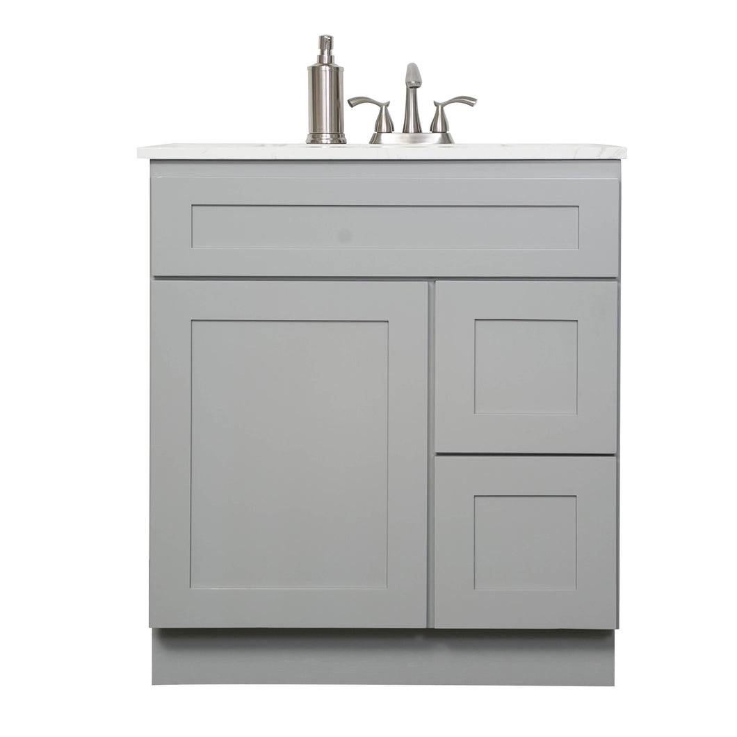 "V3021DR 30"" vanity with drawer - Gray Shaker"