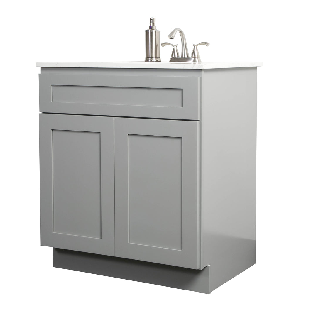 "V3621  36"" White or Gray shaker vanity"