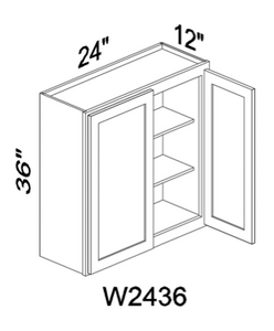 "W2436 36"" tall White or Gray wall cabinet"
