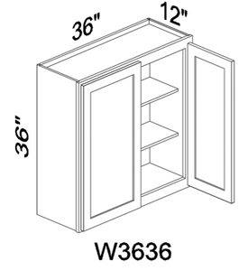"W3636 36"" tall White or Gray wall cabinet"
