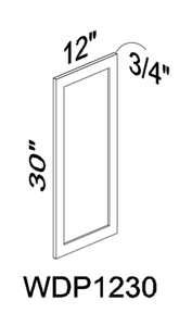 WDP1230 Wall End Panel - White