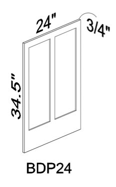 BDP24 Base door panel - White
