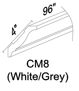 CM8 Crown molding - White