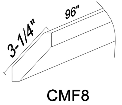 CMF 8' Crown molding - White