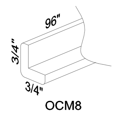OCM8 Outside Corner Molding 3/4