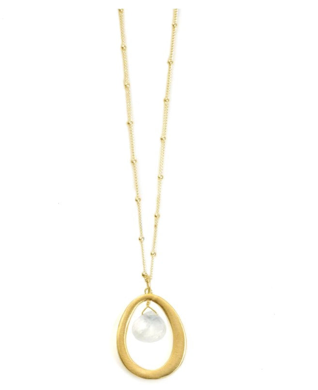 Small Oval with Moonstone Necklace