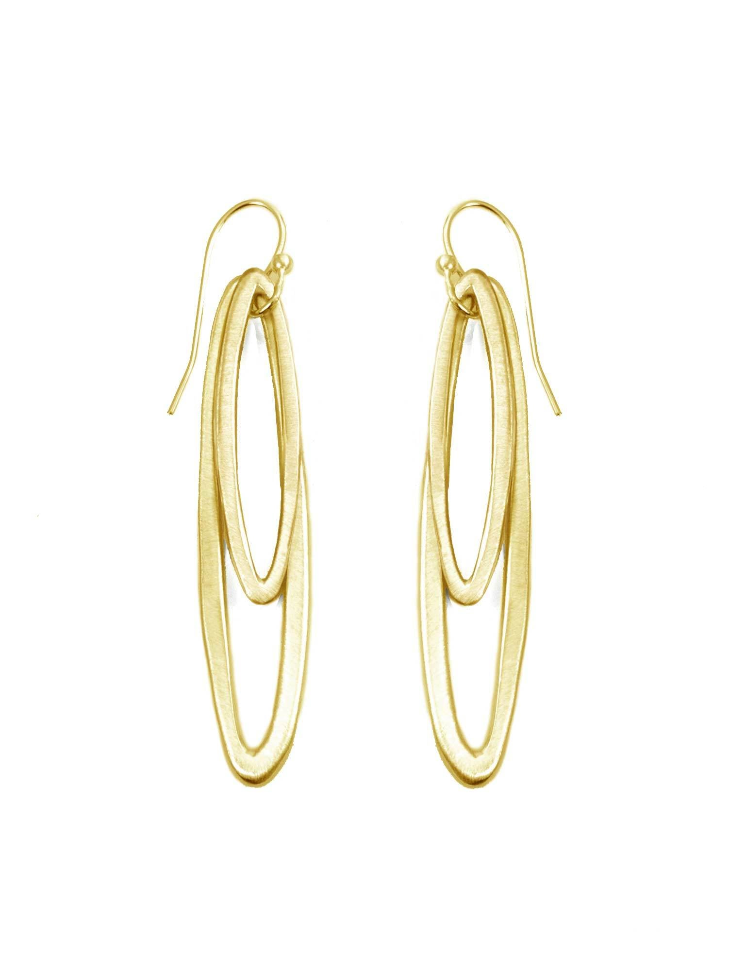 Small and Medium Vermeil Ovals Earrings