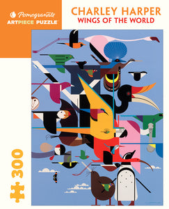 Charley Harper Wings of the World 300 Piece Puzzle