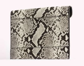 Leo Clutch in Embossed Python