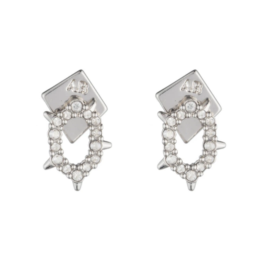 Encrusted Spike Stud Earrings by Alexis Bittar
