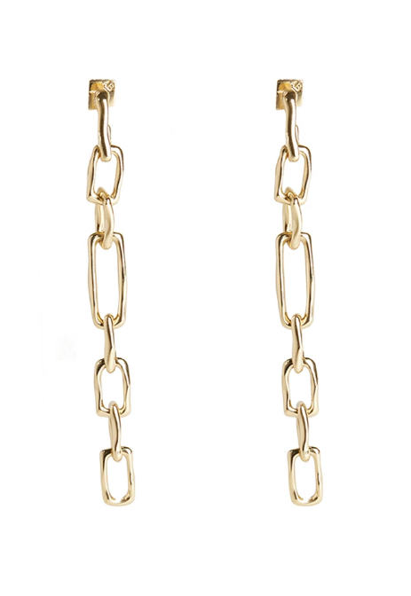 Long Chain Link Post Earrings by Alexis Bittar