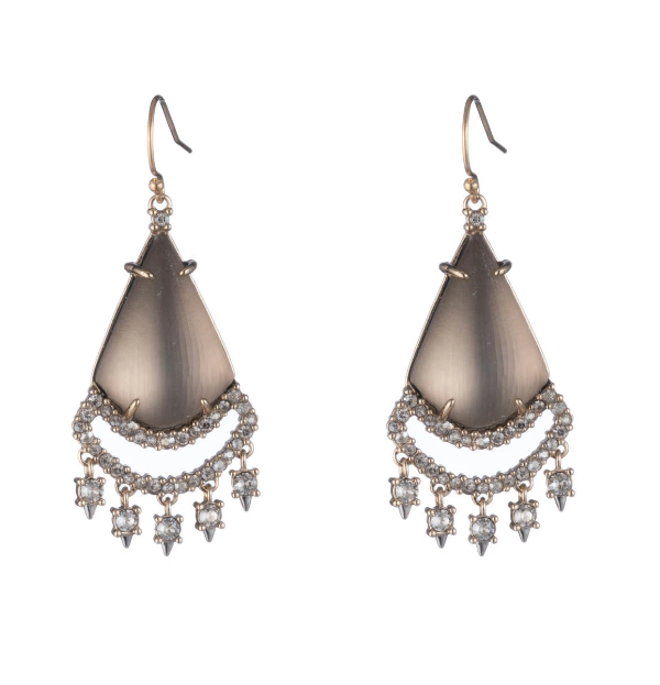 Crystal Lace Lucite Chandelier Earrings by Alexis Bittar