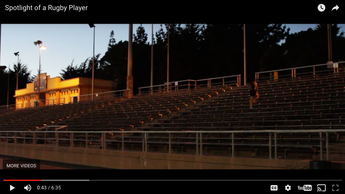 Rugby Commerical: Spotlight of a Rugby Player